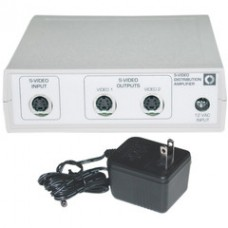 S-Video Splitter, Metal Body, S-Video Male to Dual S-Video Female