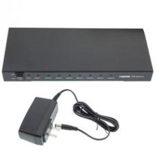 HDMI Splitter, 1 HDMI Female Input x 8 HDMI Female Output, 1x8
