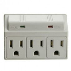Surge Protector, 3 Outlet, MOV 270 Joules LED Power Indicator