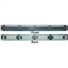 Rackmount 24 Port Cat5e Patch Panel, Horizontal, 110 Type, 568A & 568B Compatible, 1U