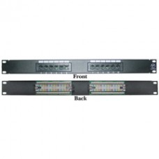 Rackmount 12 Port Cat6 Patch Panel, Horizontal, 110 Type, 568A & 568B Compatible, 1U
