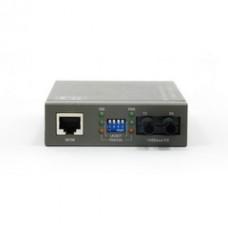 Ethernet to Multimode Fiber Optic Converter, RJ45 (100Base-TX) to Fiber-ST (100Base-FX) 2km