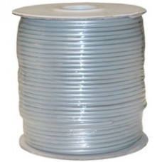 Bulk Phone Cord, Silver Satin, 28/4 (28 AWG 4 Conductor), Spool, 1000 foot