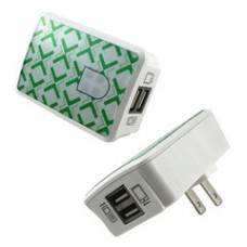 2 Port USB Wall Charger, White, 2 Amps for Powering Smart Phones, Tablets, and Other USB Powered devices