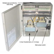 18 Port Power Distribution Box, 24 Volts AC / 8 Amps
